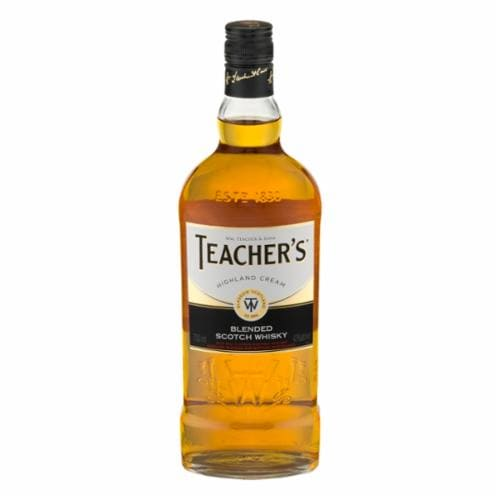 Teacher's Highland Cream Blended Scotch Whisky Perspective: front