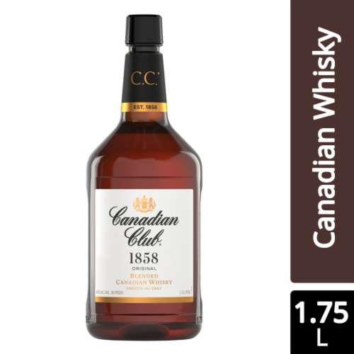 Canadian Club 1858 Premium Extra Aged Blended Canadian Whisky Perspective: front