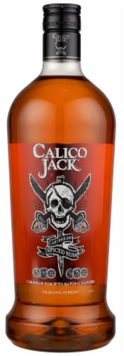 Calico Jack Caribbean Spiced Rum Perspective: front