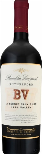 Beaulieu Vineyard Rutherford Cabernet Sauvignon Red Wine Perspective: front