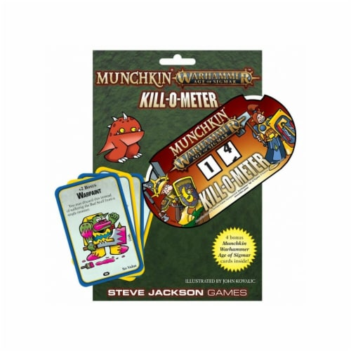 Steve Jackson Games SJG5557 Munchkin - WH - AoS - Kill-o-Meter Board Game Perspective: front