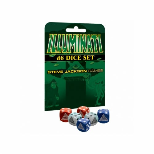 Steve Jackson Games SJG5928 Illuminati D6 Dice Set Perspective: front