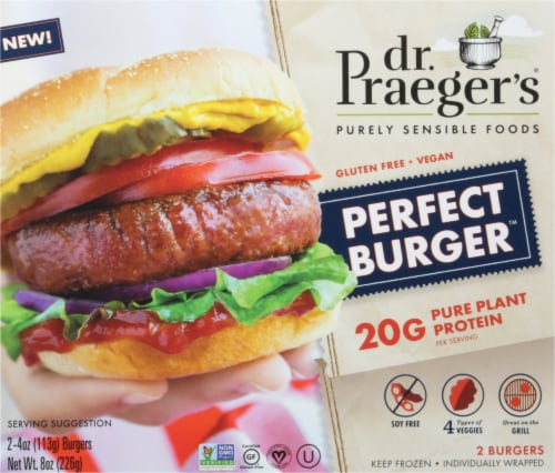 Dr. Praeger's Meatless Perfect Burger Perspective: front
