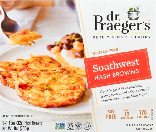 Dr. Praeger's Gluten Free Southwest Hash Browns 8 Count Perspective: front