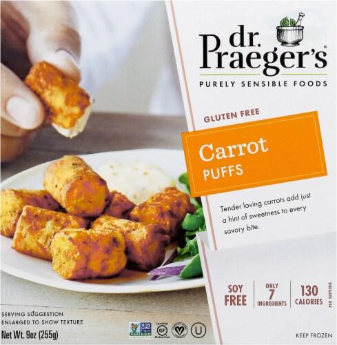 Dr. Praeger's Frozen Carrot Veggie Puffs Perspective: front