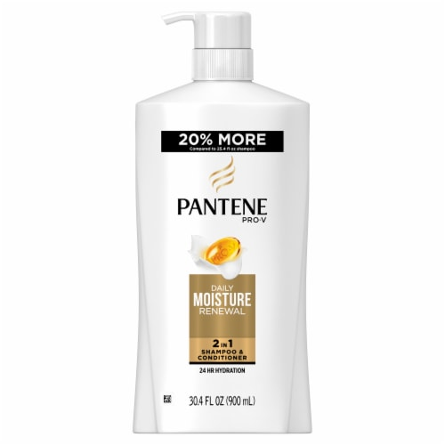 Pantene Pro-V Daily Moisture Renewal 2 in 1 Shampoo & Conditioner Perspective: front