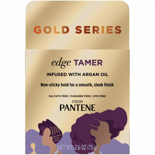 Pantene Gold Series Sulfate-Free Edge Tamer Treatment with Argan Oil Non-Sticky Edge Control Perspective: front
