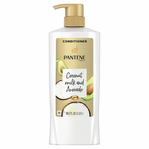 Pantene Pro-V Paraben and Dye Free Avocado Conditioner Dry Hair (38.2 fl. oz.) Perspective: front