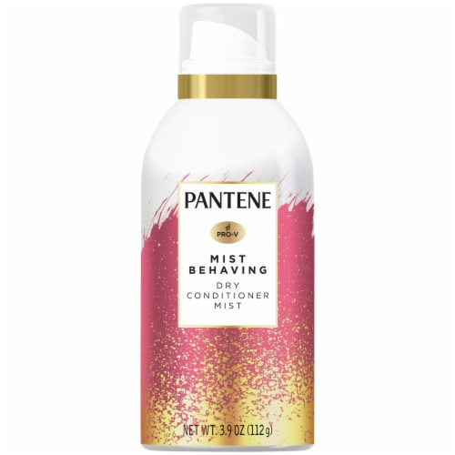 Pantene Paraben Free Mist Behaving Dry Conditioner Mist with Coconut Milk & Jojoba Oil Perspective: front