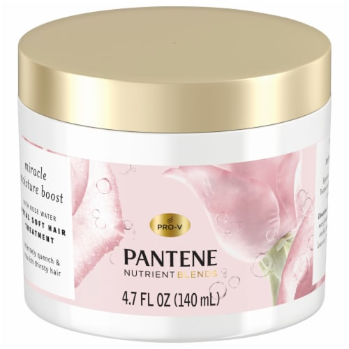 Pantene Nutrient Blends Miracle Moisture Boost Rose Water Petal Soft Hair Treatment Perspective: front