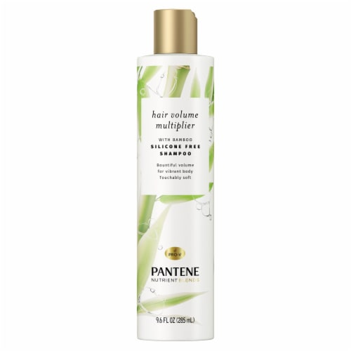 Pantene Nutrient Blends Hair Volume Multiplier with Bamboo Shampoo For Fine Hair Perspective: front