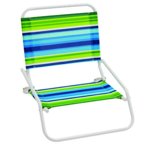 Rio Brands 1 position Multi-color Beach Folding Chair - Case Of: 8; Perspective: front