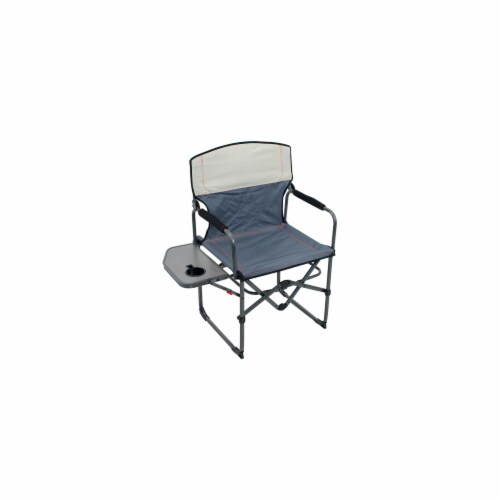 Rio GRDR384-434-1 Broadback Oversized Director Chair, Slate & Putty Perspective: front
