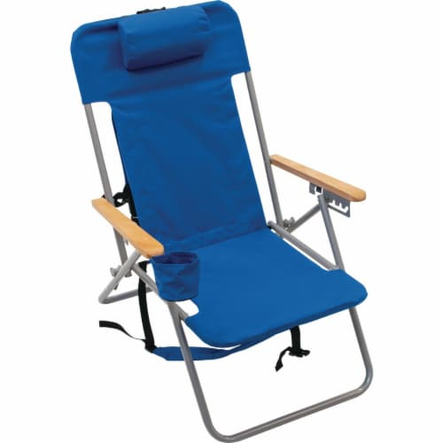 Rio Brands Blue Canvas Backpack Folding Chair SC527-28PK6 Perspective: front
