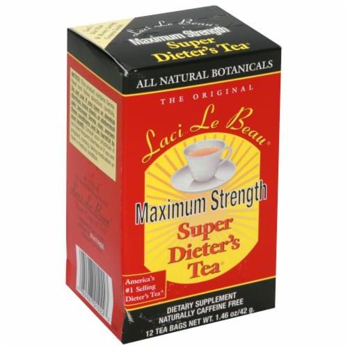 Laci Le Beau Maximum Strength Super Dieter's tea Perspective: front