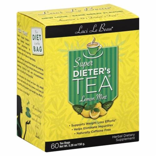Laci Le Beau Lemon Mint Super Dieter's Tea Perspective: front