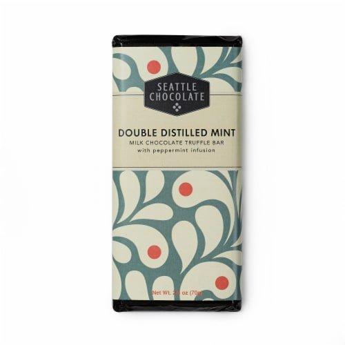 Seattle Chocolate Double Distilled Mint Milk Chocolate Truffle Bar Perspective: front