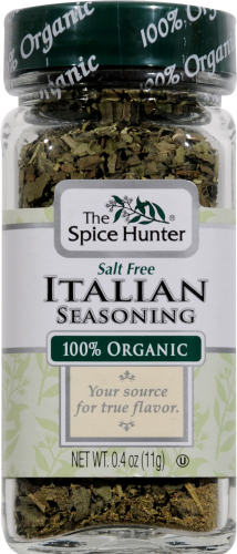 The Spice Hunter 100% Organic Italian Seasoning Perspective: front