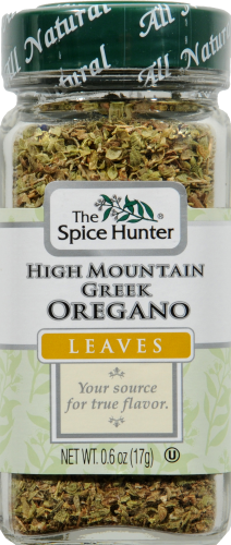 The Spice Hunter High Mountain Greek Oregano Leaves Perspective: front