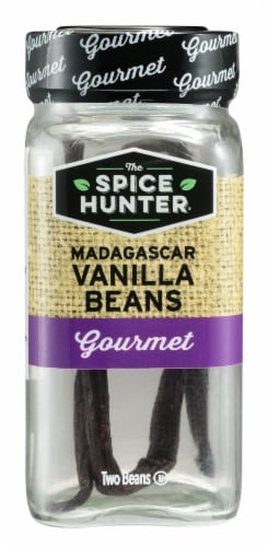 The Spice Hunter Gourmet Madagascar Vanilla Beans Perspective: front