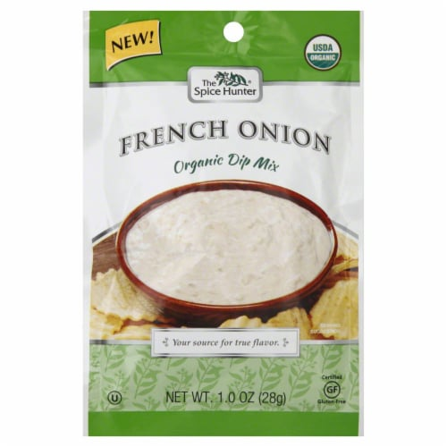Spice Hunter Organic Dip Mix  French Onion Perspective: front