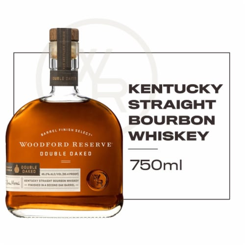 Woodford Reserve Barrel Finish Select Double Oaked Kentucky Straight Bourbon Whiskey Perspective: front