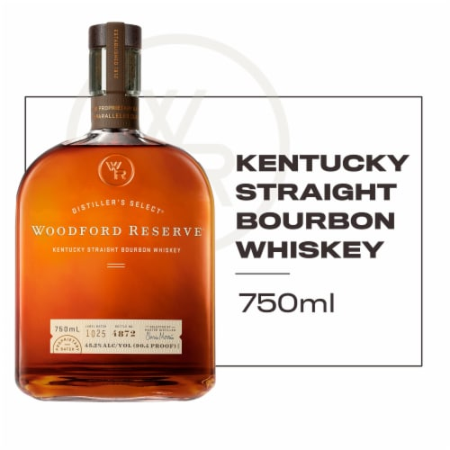 Woodford Reserve Distiller's Select Kentucky Straight Bourbon Whiskey Perspective: front