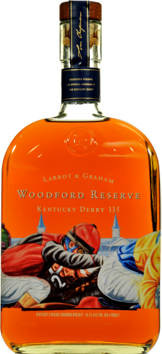 Woodford Reserve Kentucky Derby 141 Kentucky Straight Bourbon Whiskey Perspective: front