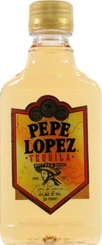 Pepe Lopez Gold Tequila Perspective: front