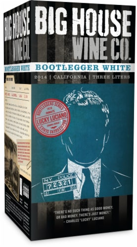 Big House Bootlegger White Wine Perspective: front