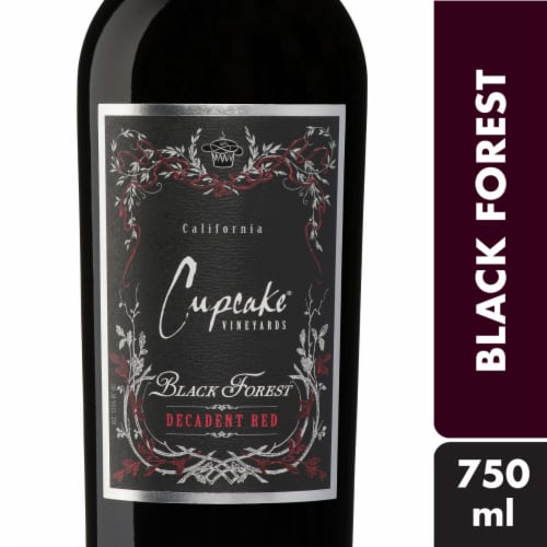 Cupcake Black Forest Decadent Red Wine Perspective: front
