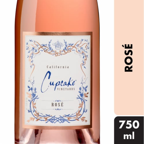 Cupcake Vineyards Rose Wine Perspective: front