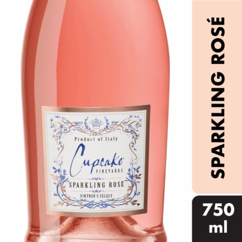 Cupcake Sparkling Rose Wine Perspective: front