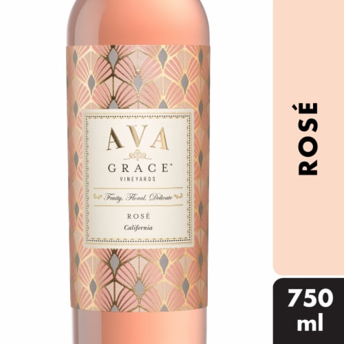 Ava Grace Wineyards Rose Wine Perspective: front