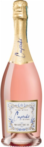 Cupcake Vineyards Prosecco Rose Wine Perspective: front