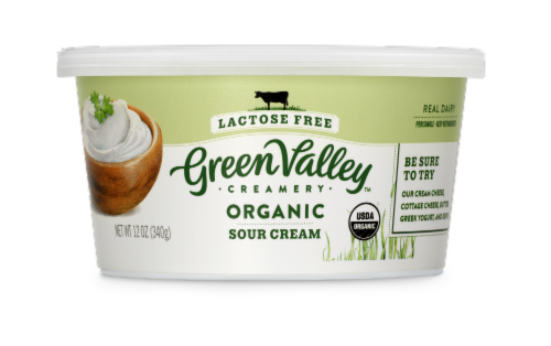 Green Valley Lactose Free Organic Sour Cream Perspective: front