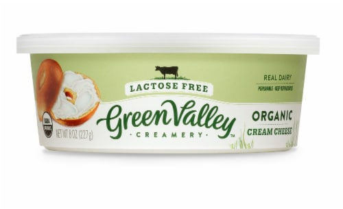 Green Valley Lactose Free Organic Cream Cheese Perspective: front