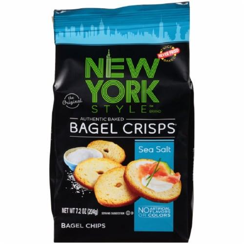 New York Style Sea Salt Bagel Crisps Perspective: front