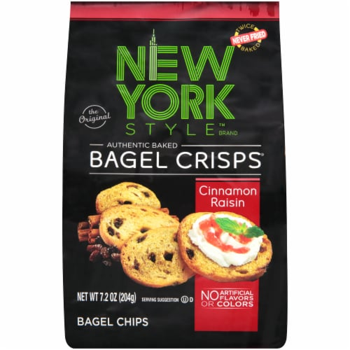 New York Style Cinnamon Raisin Bagel Crisps Perspective: front