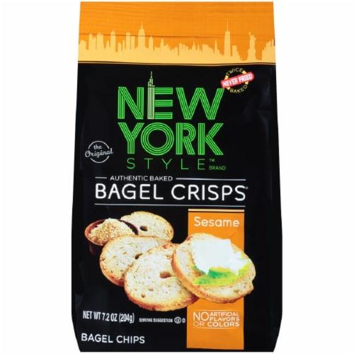 New York Style Sesame Bagel Crisps Perspective: front