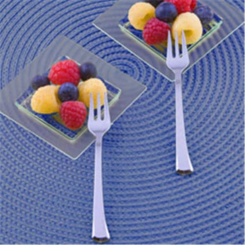 EMI Yoshi EMI-GWFK4 Glimmerware 4 in. Silver Mini Tasting Forks - Pack of 400 Perspective: front
