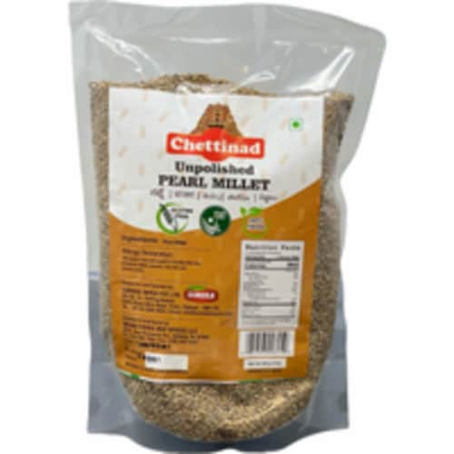 Chettinad Pearled (Unpolished) Pearl Millet - 2 Lb Perspective: front