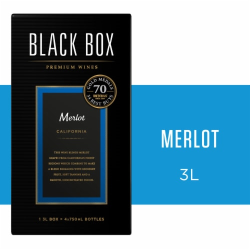 Black Box Merlot Red Wine Perspective: front