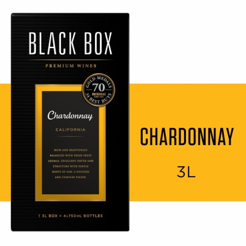 Black Box Chardonnay White Wine Perspective: front