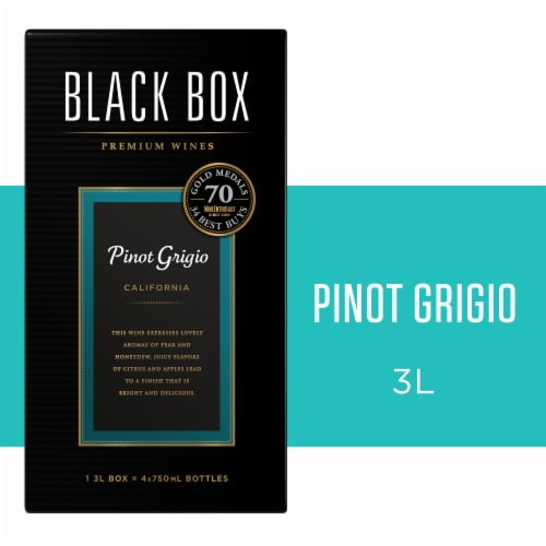 Black Box Pinot Grigio White Wine Perspective: front