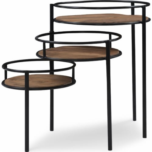 Powell Furniture D1247A19P Collis Three Tiered Plant Stand Perspective: front