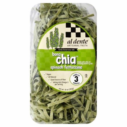 Al Dente Bona Chia Spinach Fettuccine Perspective: front