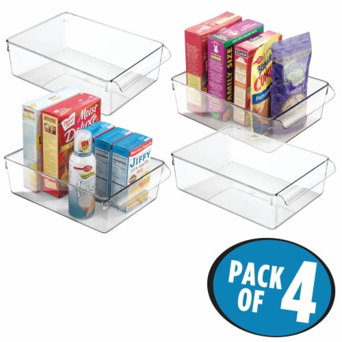 iDesign Linus Pullz Storage Bins - Transparent Perspective: front