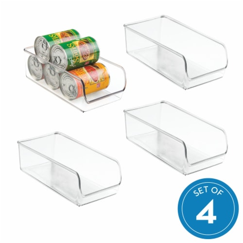 iDesign Linus Stackable Organizer Bins - Clear Perspective: front