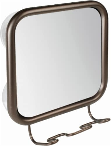 InterDesign Neo Suction Mirror and Razor Holder - Bronze Perspective: front